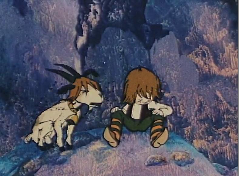 больше рисунок гномы в пещере горного короля вариант